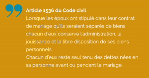 Article 1536 du Code civil