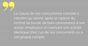 clause de non concurrence cdi cdd