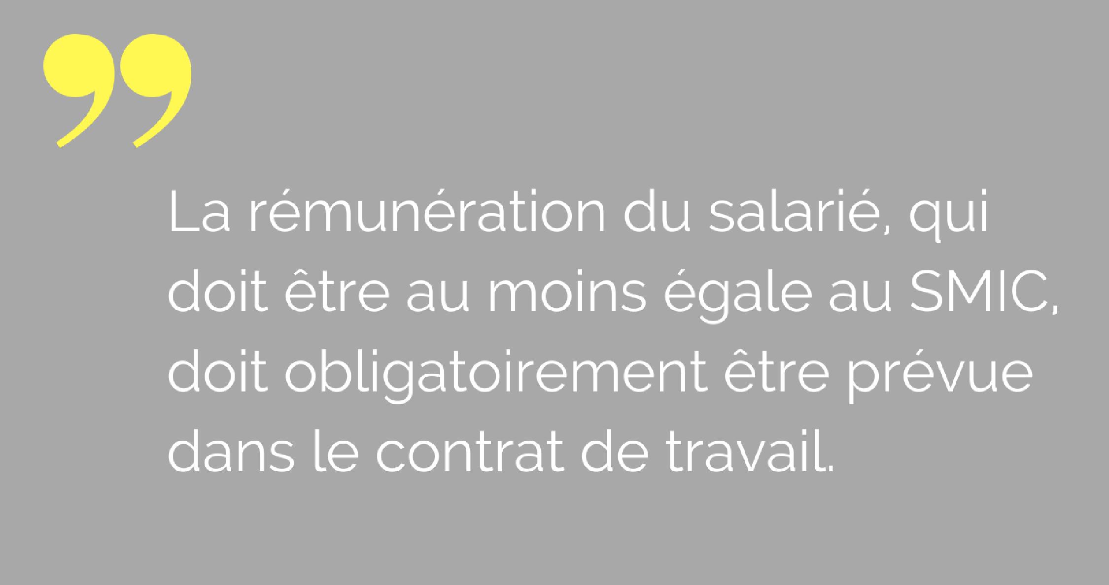 salaire contrat de travail
