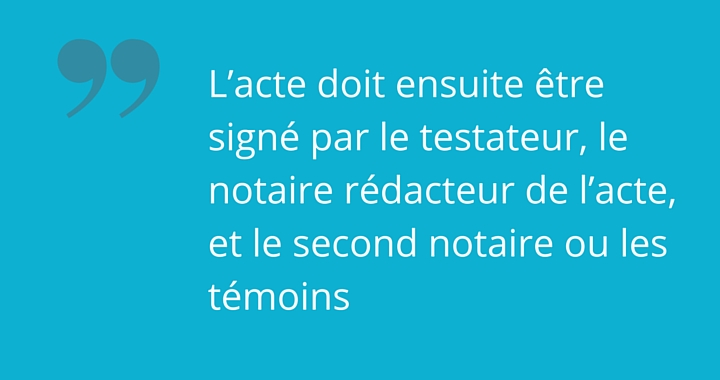 testament authentique notaire