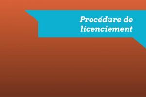 procedure de licenciement