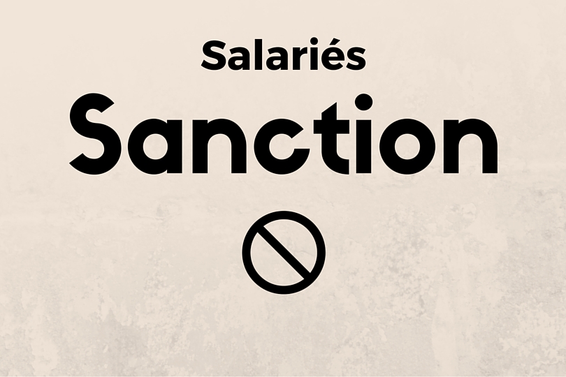 sanction salarié