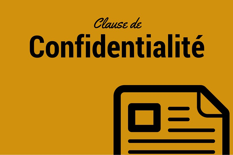 clause de condidentialité