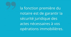 notaire immobilier