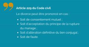 Les cas de divorce
