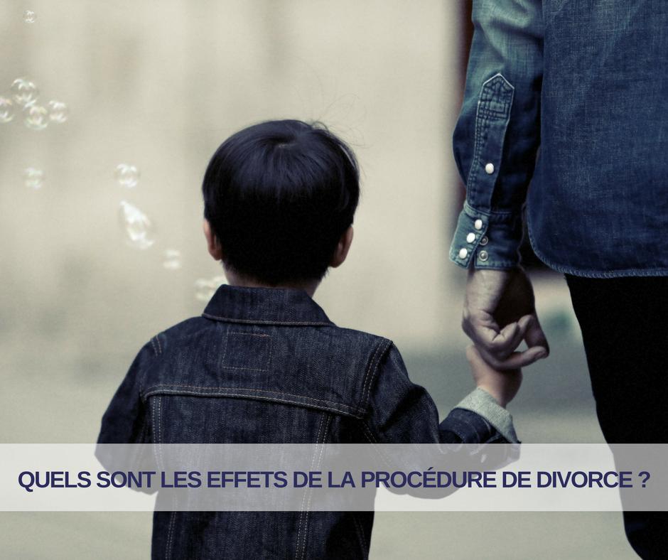 Les effets de la procédure de divorce