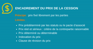 Le prix de la cession d'actions
