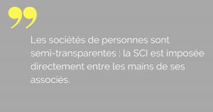 La fiscalité de la SCI