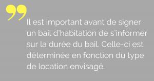bail habitation durée