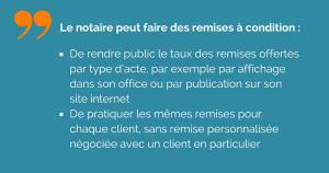 Notaire et remises après la loi Macron