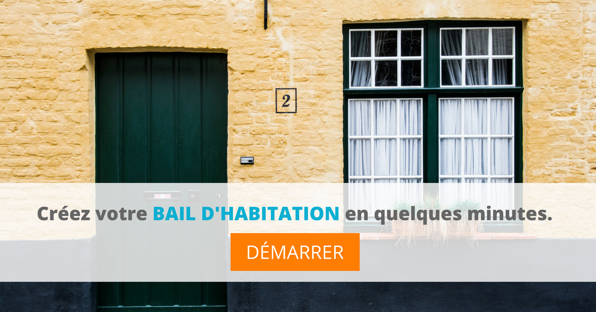 créer bail habitation