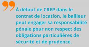Sanction du défaut de CREP