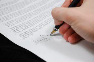 Mention manuscrite signature